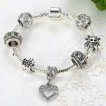 Pandora look a like armband met 7 bedels