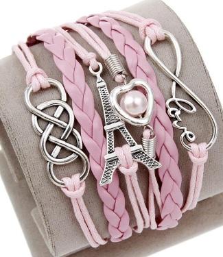 Roze love en eiffeltoren