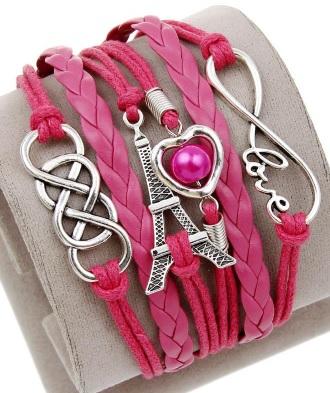 hard roze met love en eiffeltoren