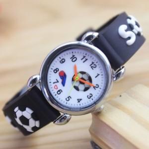 voetbal horloge zwart